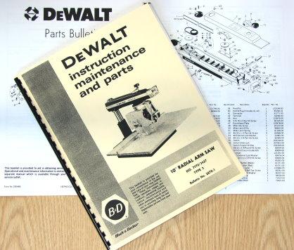 DEWALT 7770 10 inch Radial Arm Saw Owner s Instructions