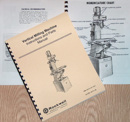 Rockwell Parts Catalog http://www.ebay.com/itm/ROCKWELL-Vertical-Mill-Machine-Operating-Parts-Manual-0623-/310388410444
