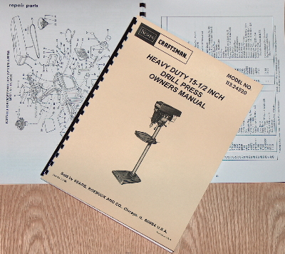 "618 Instructions /& Parts Manual 0051 ATLAS//CRAFTSMAN 6/"" Metal Lathe NO"