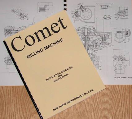 comet milling machine parts