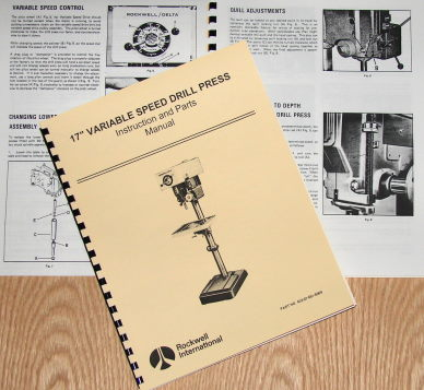 Rockwell Parts Catalog http://www.ebay.com/itm/ROCKWELL-DELTA-17-Variable-Speed-Drill-Press-Manual-0627-/290686537173