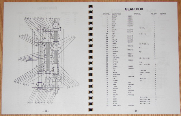 sharp 1540s 1560s metal lathes operator s parts manual 0896