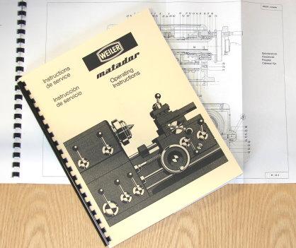 CNC, Metalworking & Manufacturing WEILER Matador Lathes Models W ...