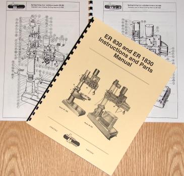AB ARBOGA MASKINER ER 830 /& ER 1830 Radial Drill Instruction /& Parts Manual 0922