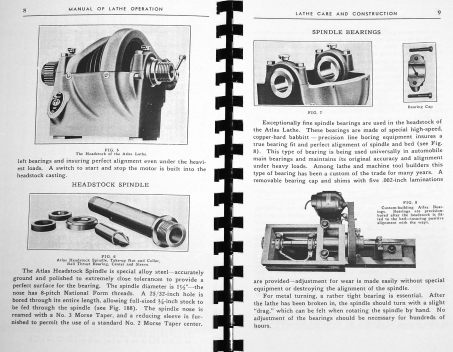 Details about Atlas Craftsman Manual of Lathe Operation Book for Old 10