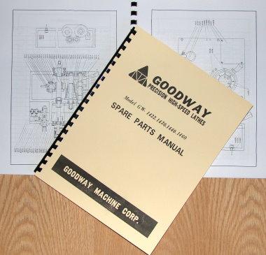 Details about GOODWAY GW-1422,1430,1440,1460 Metal Lathe Parts Manual on