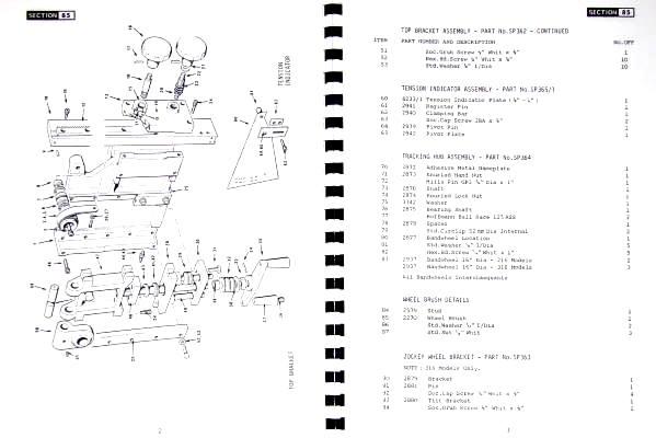 816 824  Band Saw Service Parts Manual 0411 KALAMAZOO 8C