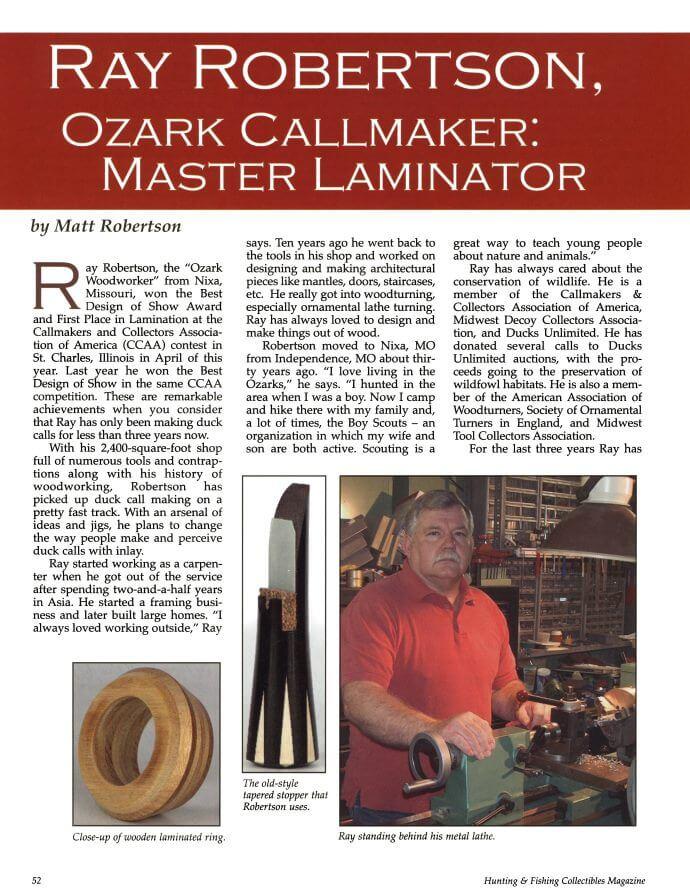 magazine-21 Robertson Calls Publications